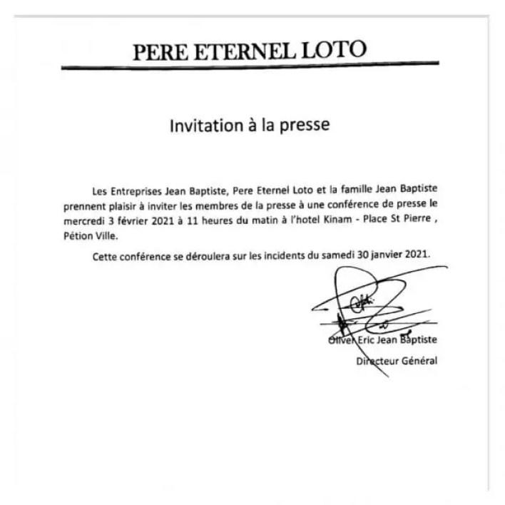 Incident -Carrefour : Oliver Eric Jean-Baptiste invite la presse pour des clarifications - Eric Jean Baptiste, Kidnapping