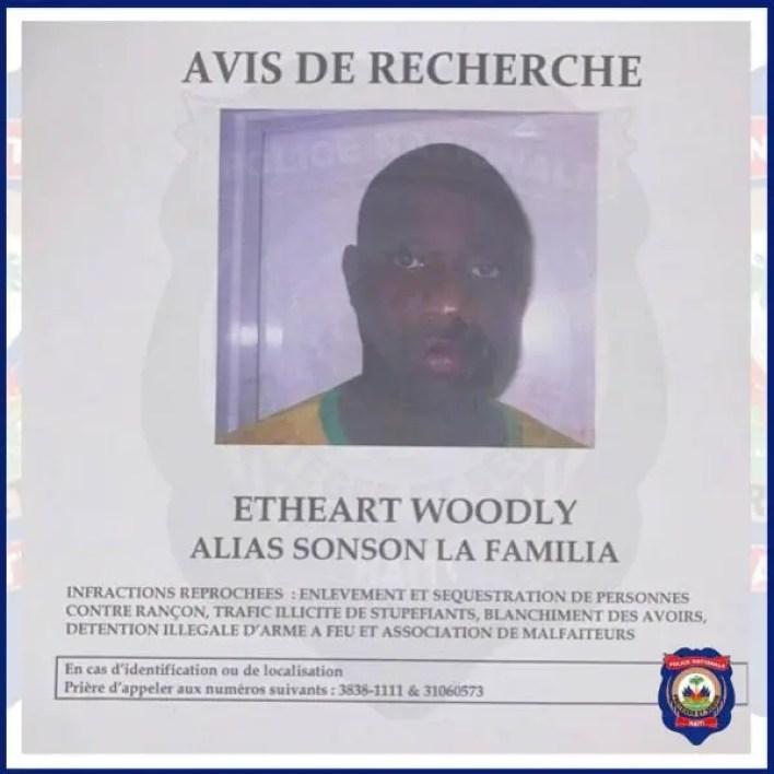 Woodly Ethéart alias Sonson la Familia est officiellement remis à la DCPJ - Sonson la Familia, Woodly Ethéart