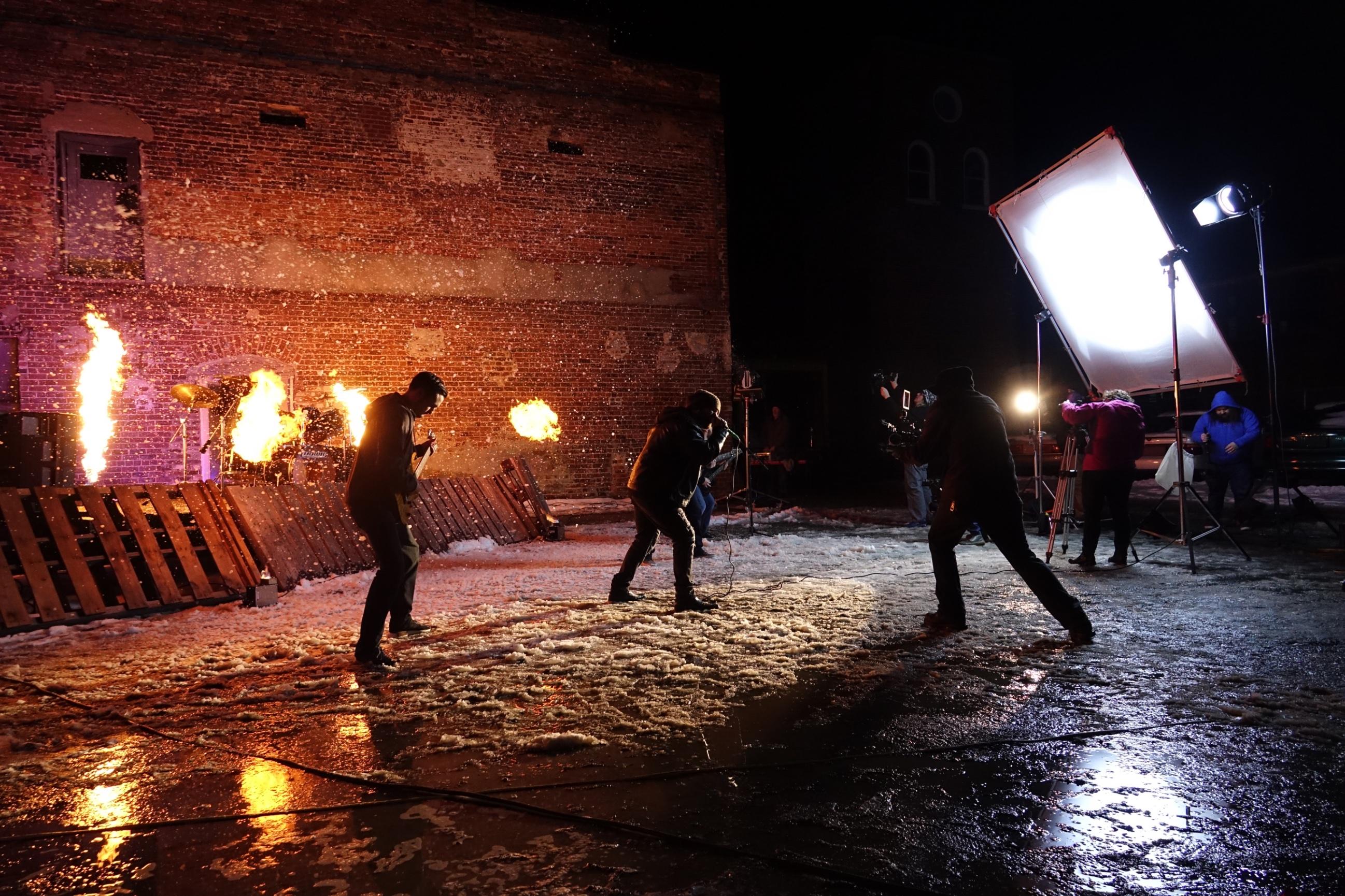 music video shoot so it begins king