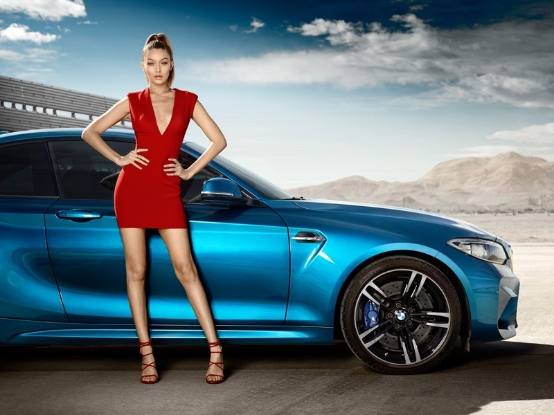 CAMPAIGN Gigi Hadid for BMW M2 Coupe 2016. www.imageamplified.com, Image Amplified (2)