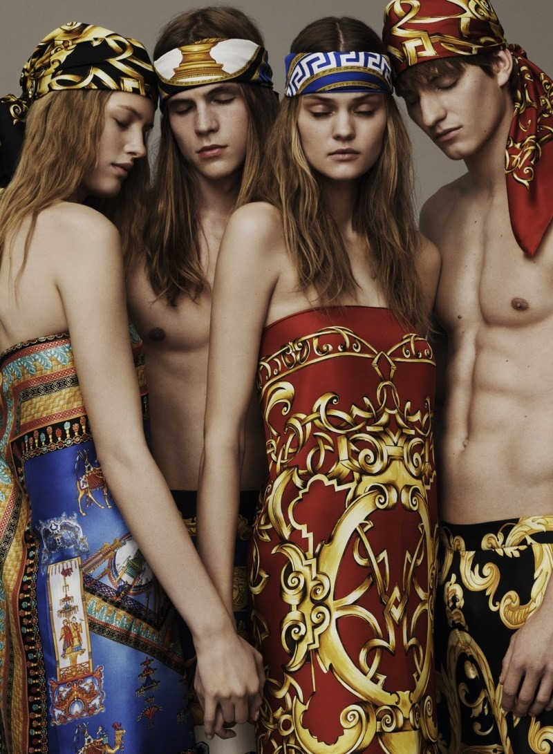CAMPAIGN Benjamin Benedek & Malcolm Lindberg for Versace Scarves 2016 by Ben Weller. www.imageamplified.com, Image Amplified (1)