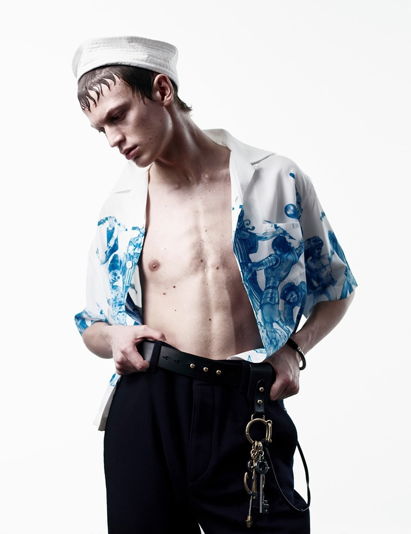 MAN ABOUT TOWN Cargo de Nuit by Willy Vanderperre. Olivier Rizzo, Spring 2016, www.imageamplified.com, Image Amplified (1)