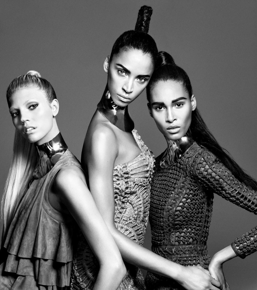 CAMPAIGN Cindy Bruna, Devon Windsor & Noemie Lenoir for Balmain Hair Couture Spring 2016. www.imageamplified.com, Image Amplified (1)