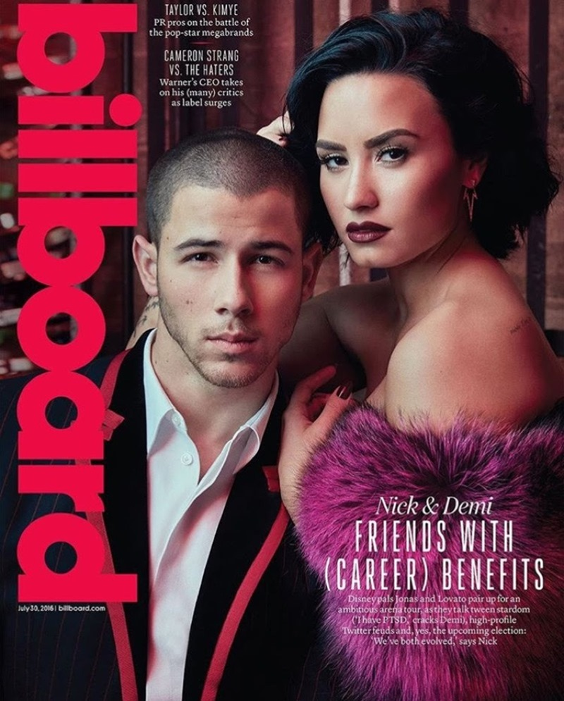 BILLBOARD MAGAZINE Demi Lovato & Nick Jonas by Austin Hargrave. Jeff K Kim, July 2016, www.imageamplified.com, Image Amplified1