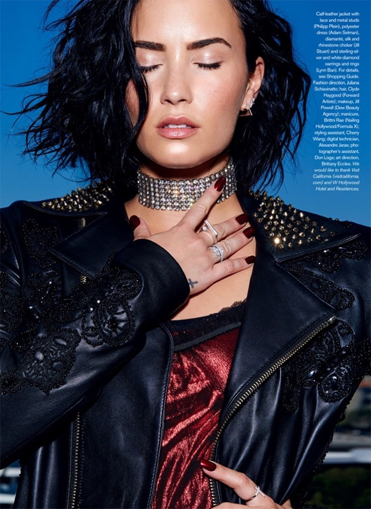 ELLE CANADA Demi Lovato by Max Abadian. Juliana Schiavinatto, September 2016, www.imageamplified.com, image Amplified5