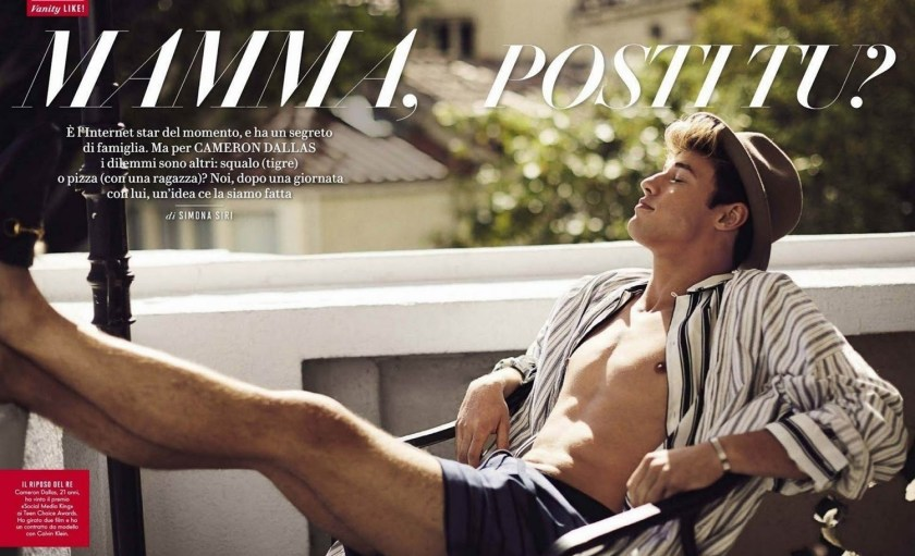 VANITY FAIR ITALIA CAmeron Dallas by Mike Rosenthal. Wyman Chang, Summer 2016, www.imageamplified.com, Image Amplified (1)