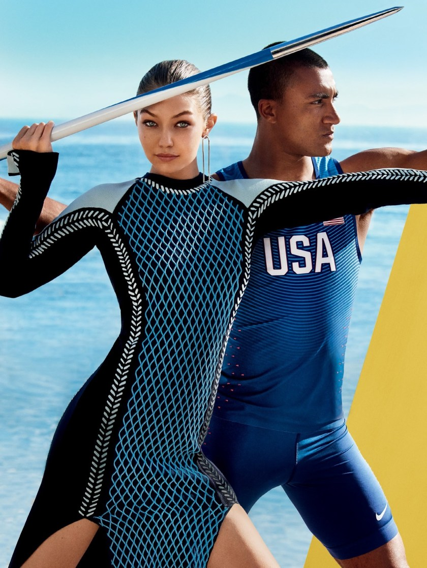 VOGUE MAGAZINE Gigi Hadid & Ashton Eaton by Mario Testino. Tonne Goodman, August 2016, www.imageamplified.com, Image Amplified1