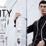 ELLE MAN HONG KONG: Allen ye, Ryu Wankyu & Yo Baek Lee by Brent Chua