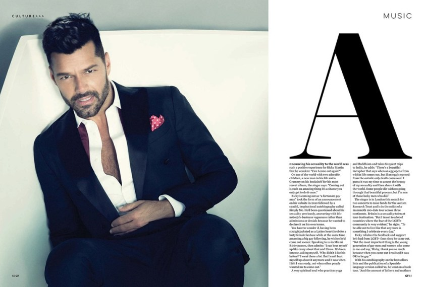 GAY TIMES MAGAZINE Ricky Martin by Nino Munoz. Fall 2016, www.imageamplified.com, Image Amplified3