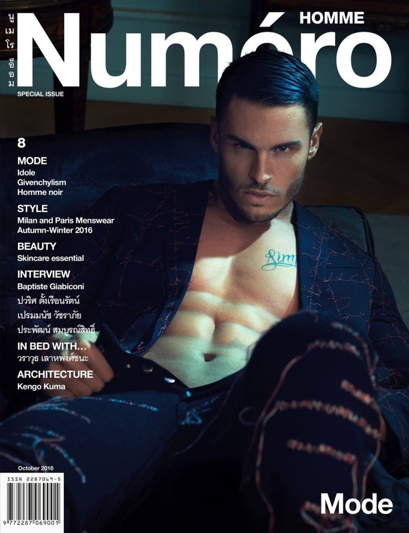 NUMERO HOMME THAILAND Baptiste Giabiconi by Eric Silverberg. Monlada Pongpanit, October 2016, www.imageamplified.com, Image Amplified (1)