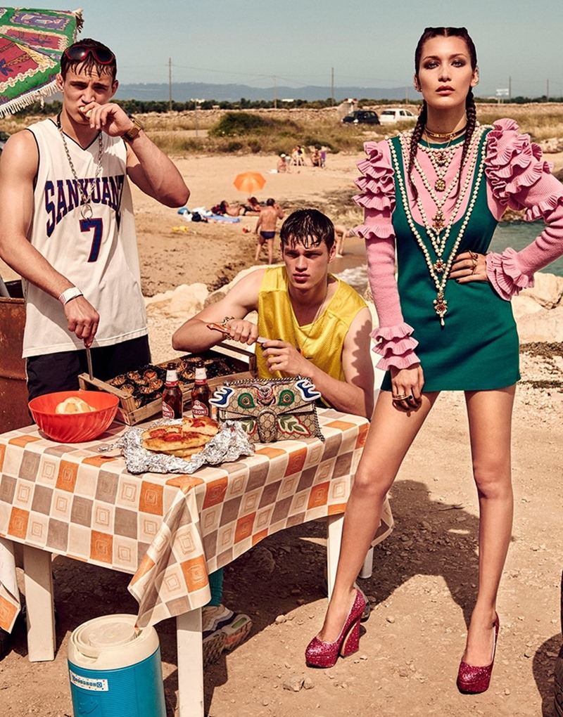 VOGUE JAPAN Bella Hadid & Filip Hrivnak by Giampaolo Sgura. Anna Dello Russo, November 2016, www.imageamplified.com, Image Amplified6
