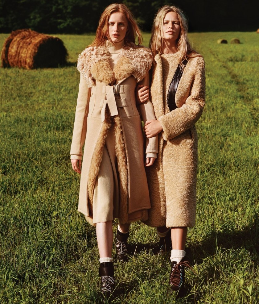 VOGUE MAGAZINE Anna Ewers & Rianne van Rompaey by Alasdair McLellan. Camilla Nickerson, Michael Philouze, October 2016, www.imageamplified.com, Image Amplified3