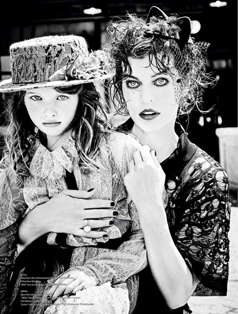 VS MAGAZINE Milla Jovovich & Ever Gabo Jovovich-Anderson by Ellen von Unwerth. Vibe Dabelsteen, Fall 2016, www.imageamplified.com, Image Amplified (4)