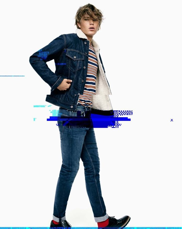 CAMPAIGN Jordan Barrett for Pepe Jeans Fall 2016 by Scott Trindle. www.imageamplified.com, Image Amplified (2)