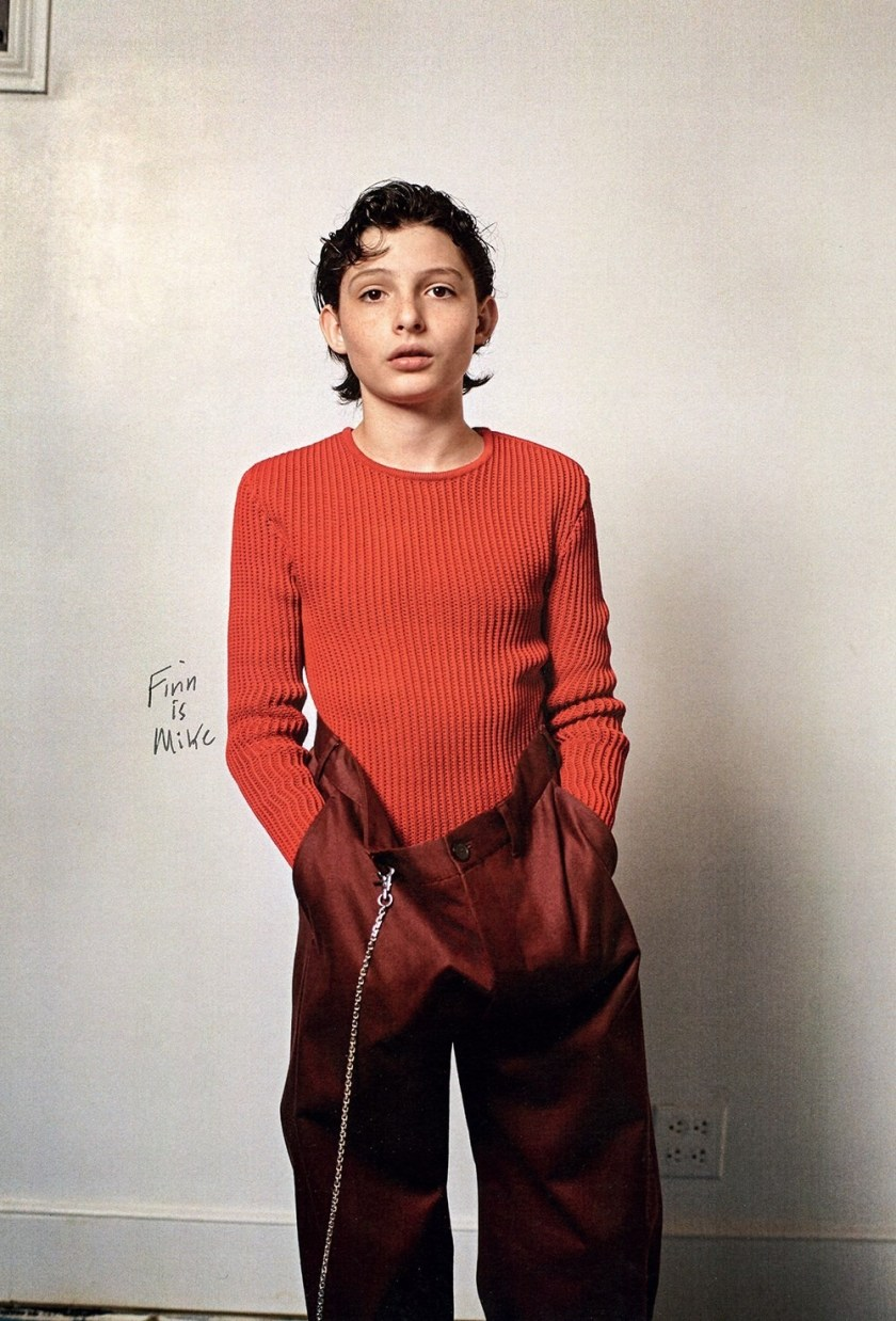 DAZED MAGAZINE Millie Bobby Brown & Finn Wolfhard by Collier Schorr. Robbie Spencer, Fall 2016, www.imageamplified.com, Image Amplified17