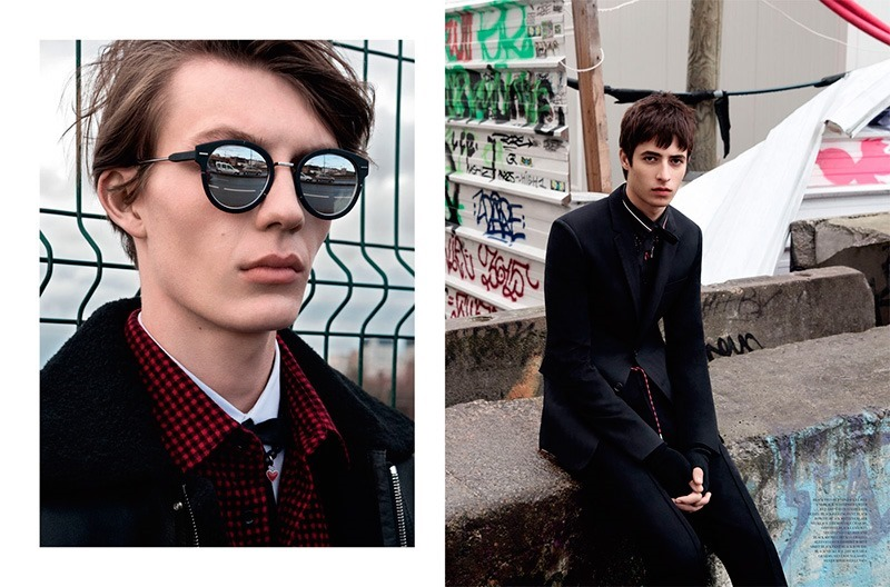 DIOR MAGAZINE Dominik Hahn, Oscar Kindelan & Finnlay Davis by Andreas Larsson. Mattias Karlsson, Fall 2016, www.imageamplified.com, Image Amplified4