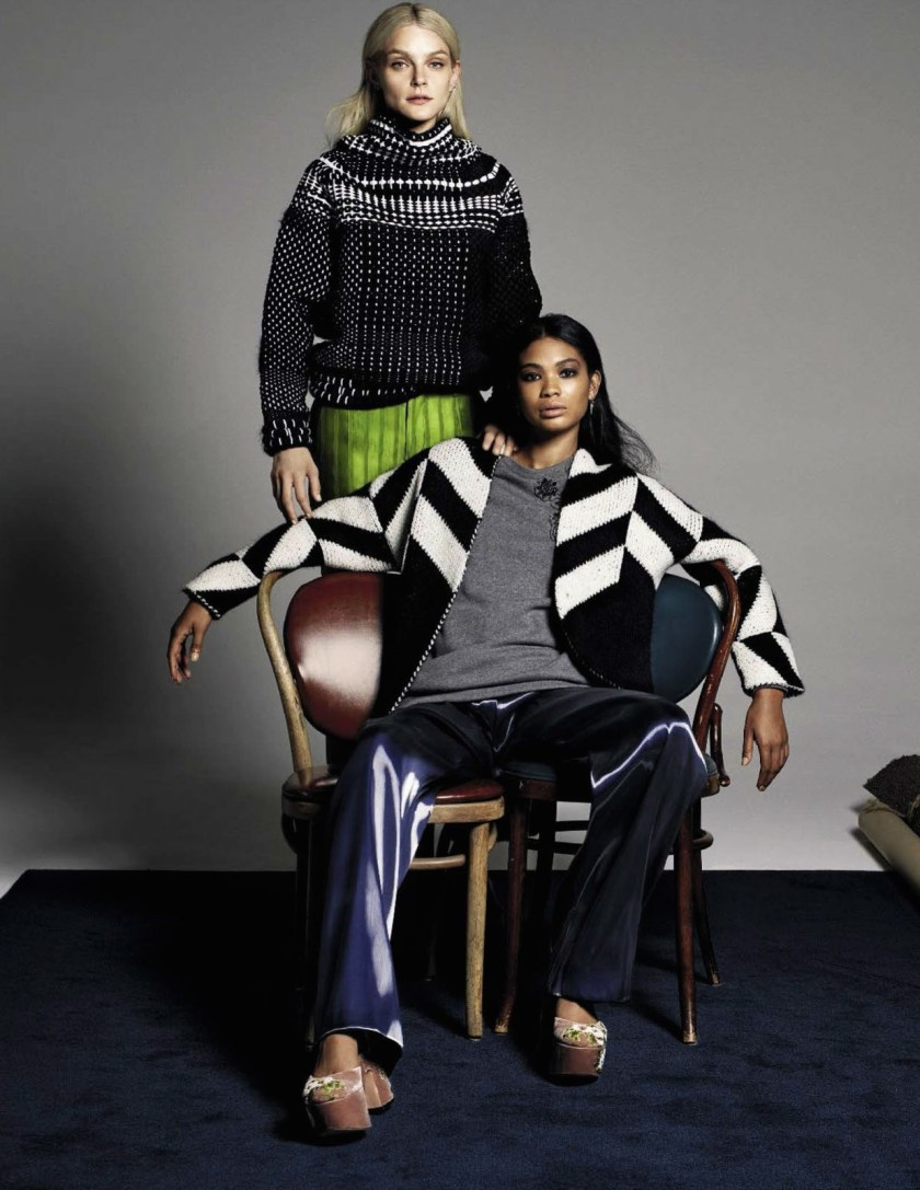 VOGUE ITALIA Jessica Stam & Chanel Iman by Michel Comte. Giulio Martinelli, Aya Ko, November 2016, www.imageamplified.com, Image Amplified10