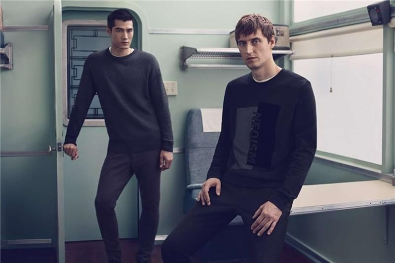 CAMPAIGN Sebastien Andrieu & Hao Yun Xiang for H&M Winter 2016 by Mikael Jansson. Ludivine Poiblanc, www.imageamplified.com, Image amplified4