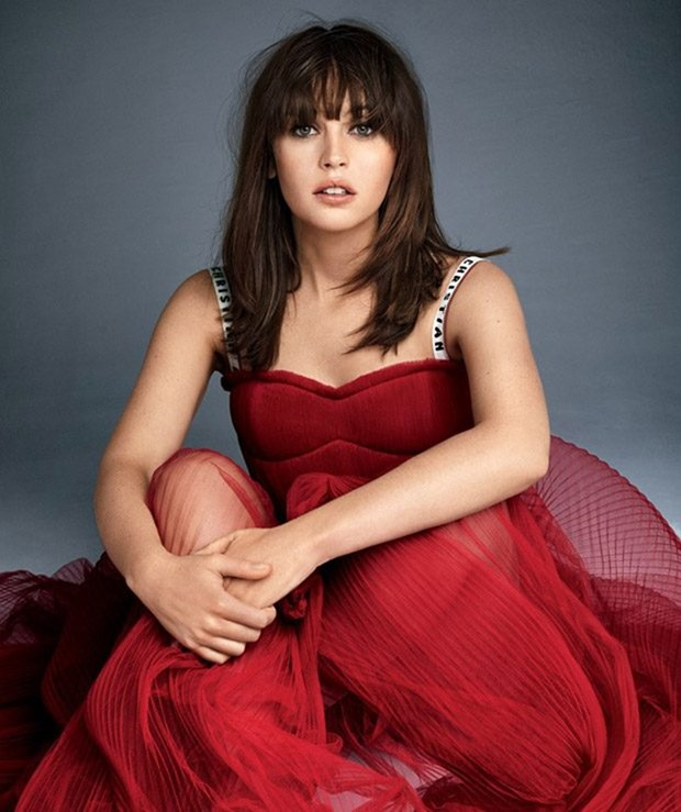 GLAMOUR MAGAZINE Felicity Jones by Patrick Demarchelier. Jillian Davison, January 2017, www.imageamplified.com, Image Amplified2