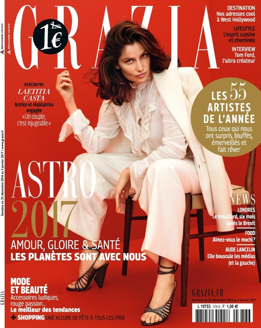 GRAZIA FRANCE Laetitia Casta by Nik Hartley. Marine Chaumien, December 2016, www.imageamplified.comm, Image Amplified1