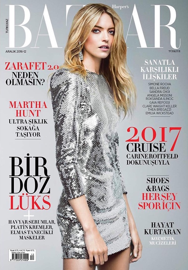 HARPER'S BAZAAR TURKEY Martha Hunt by Matallana. Sarah Gore Reeves, December 2016, www.imageamplified.com, Image Amplified1