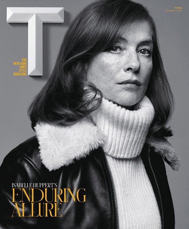 T STYLE MAGAZINE Isabelle Huppert by Craig McDean. Marie-Amelie Sauve, Holiday 2016, www.imageamplified.com, Image Amplified1