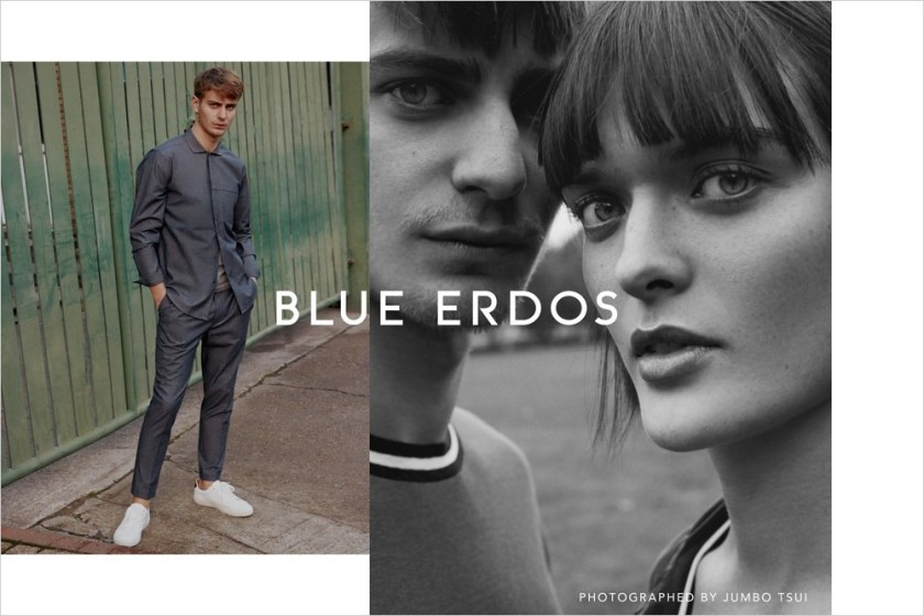 CAMPAIGN Ben Allen & Sam Rollinson for Blue Erdos Spring 2017 by Jumbo Tsui. Verity Parker, www.imageamplified.com, image Amplified1