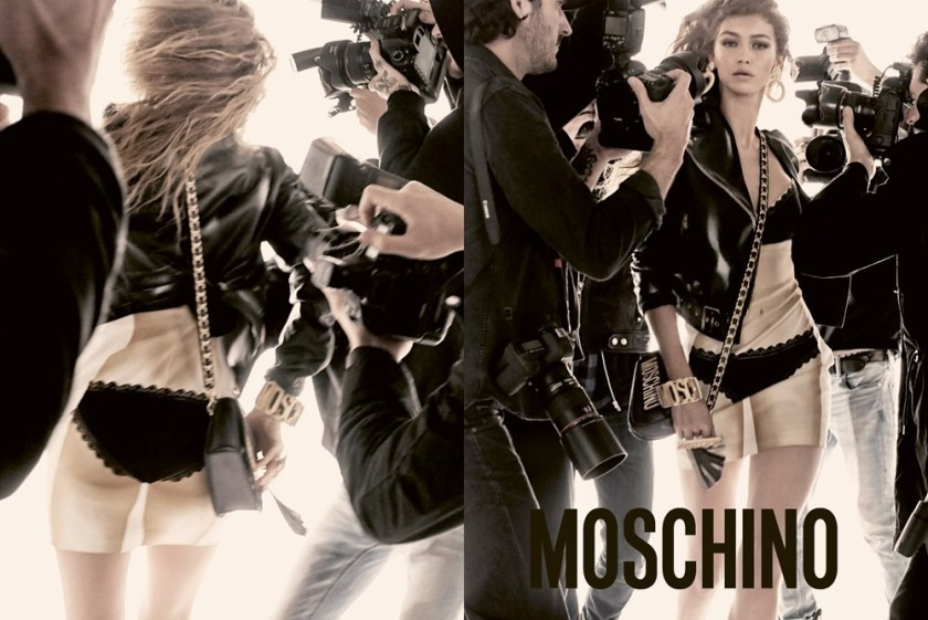 CAMPAIGN Gigi Hadid & Bella Hadid for Moschino Spring 2017 by Steven Meisel. Carlyne Nerf De Dudzeele, www.imageamplified.com, Image Amplified1