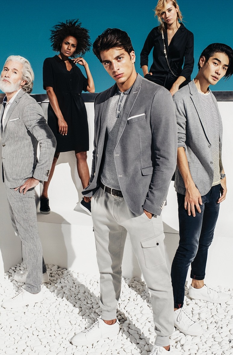 CAMPAIGN Simone Susinna, Tomo Kurata & Aiden Shaw for CINQUE Spring 2017 by Oliver Beckmann. www.imageamplified.com, Image Amplified1