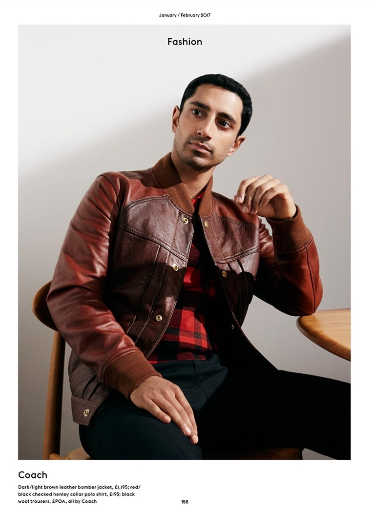 ESQUIRE UK Riz Ahmed by Pelle Crepin. Chris Benns, February 2017, www.imageamplified.com, image Amplified1