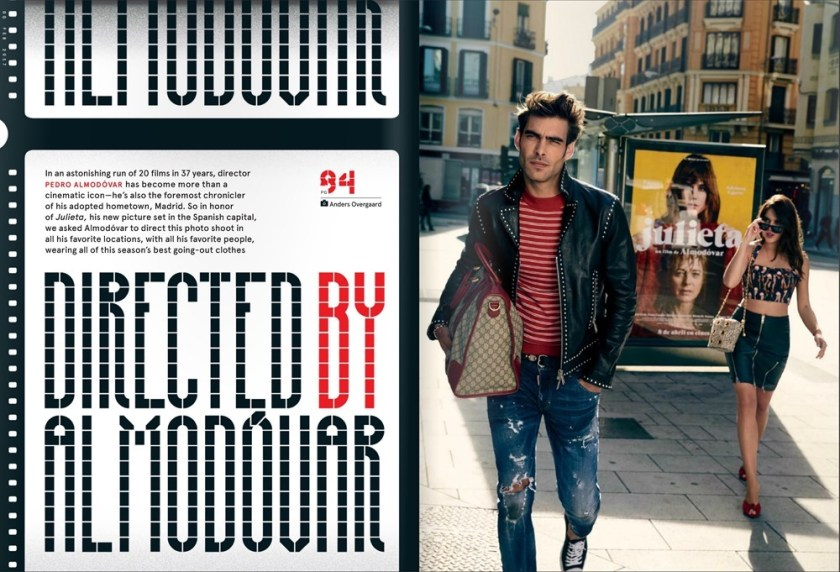 GQ MAGAZINE Jon Kortajarena by Anders Overgaard. Pedro Almadovar, January 2017, www.imageamplified.com, Image Amplified1