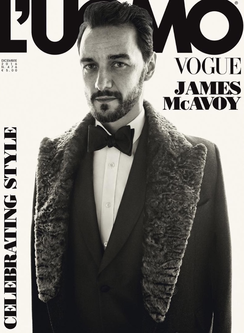 L'UOMO VOGUE James McAvoy by Tom Munro. Robert Rabensteiner, December 2016, www.imageamplified.com, Image amplified1