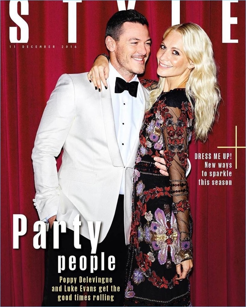 THE SUNDAY TIMES STYLE Luke Evans & Poppy Delevigne by Aitken Jolly. Flossie Saunders, Michael Hennegan, Fall 2016, www.imageamplified.com, image Amplified2