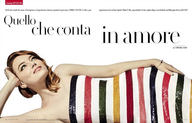 VANITY FAIR ITALIA Emma Stone by Mary Ellen Matthews. Petra Flannery, January 2017, www. imageamplified.com, Image Amplified3