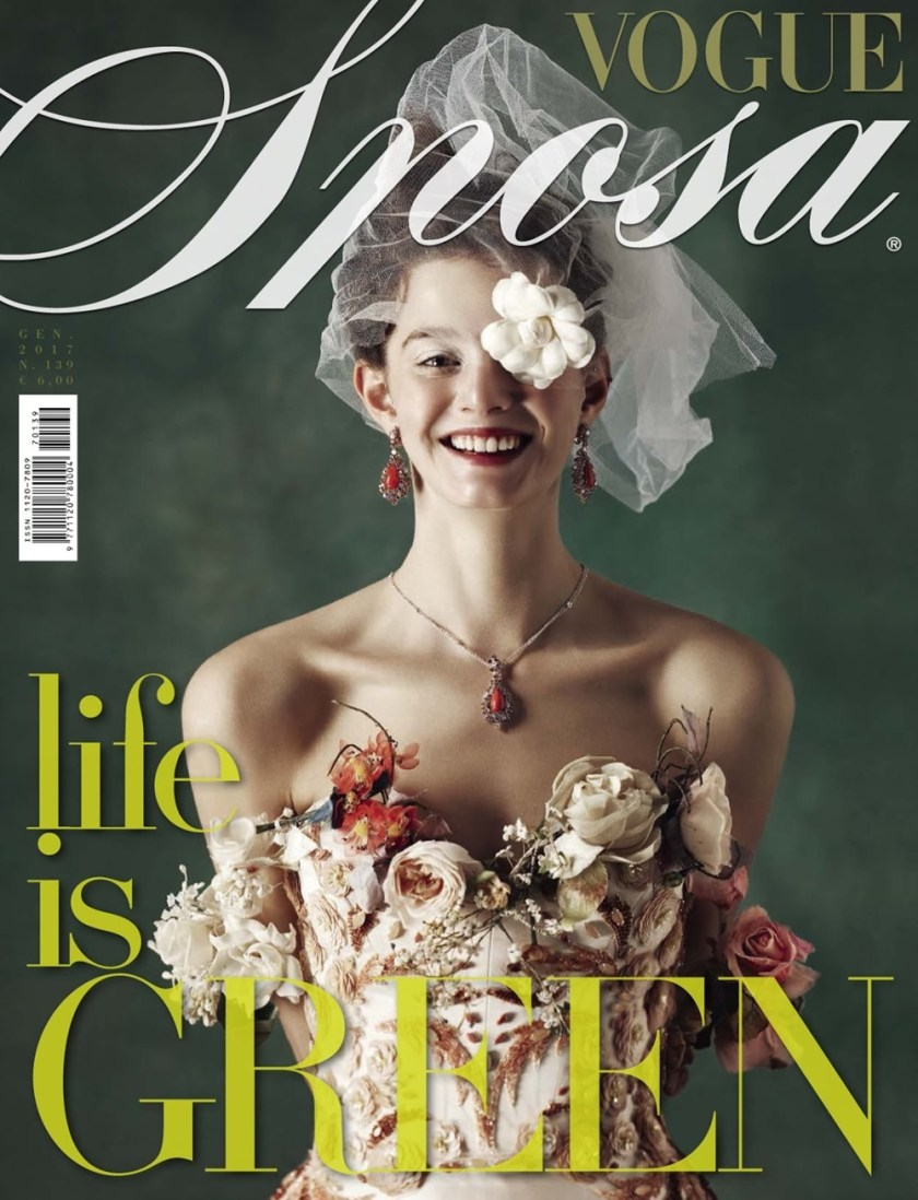 VOGUE ITALIA SPOSA Marylou Moll by Kiki Xue. Elisa Zaccanti, January 2017, www.imageamplified.com, Image Amplified1