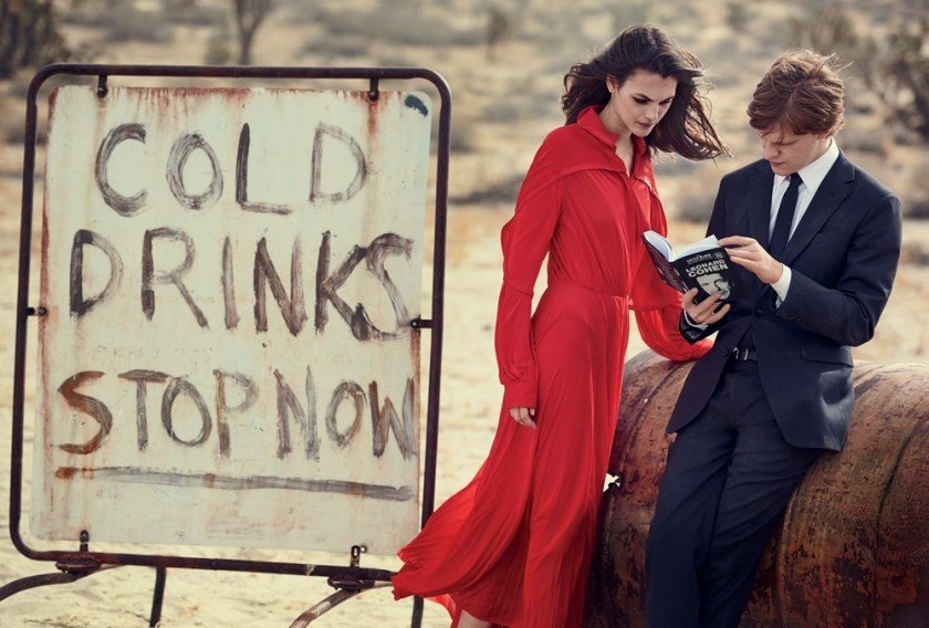 VOGUE MAGAZINE Vittoria Ceretti & Lucas Hedges by Peter Lindbergh. Grace Coddington, Michael Philouze, February 2017, www.imageamplified.com, Image amplified4