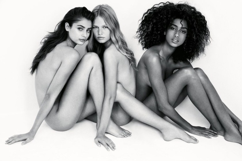 VOGUE UK Imaan Hammam, Taylor Hill & Anna Ewers by Patrick Demarchelier. Kate Phelan, February 2017, www.imageamplified.com, Image Amplified2