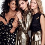 VOGUE UK: Imaan Hammam, Taylor Hill & Anna Ewers by Patrick Demarchelier