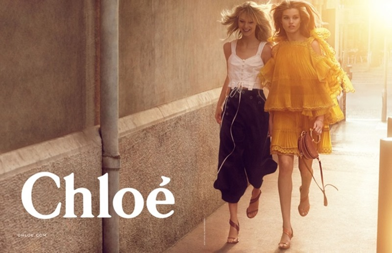 CAMPAIGN Luna Bijl & Ulrikke Hoyer for Chloe Spring 2017 by Charlotte Wales. Jane How, www.imageamplified.com, Image Amplified3