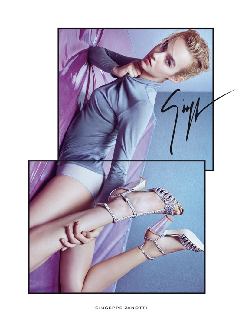 CAMPAIGN Maartje Verhoef for Giuseppe Zanotti Spring 2017 by Mario Sorrenti. Carinoe Roitfeld, Giovanni Bianco, www.imageamplified.com, Image Amplified1