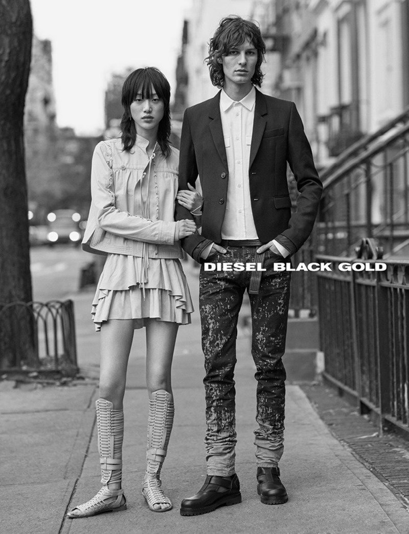 CAMPAIGN Sora Choi & Akos Sogor for Diesel Black Gold Spring 2017. www.imageamplified.com, Image Amplified3