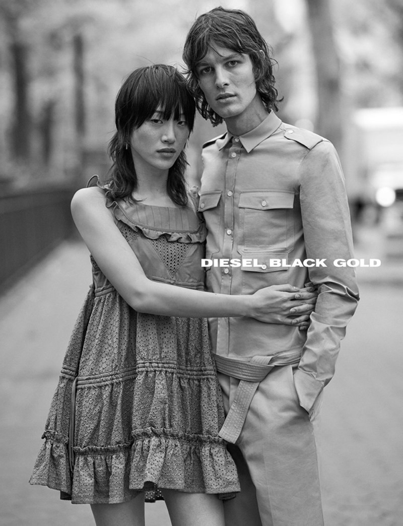 CAMPAIGN Sora Choi & Akos Sogor for Diesel Black Gold Spring 2017. www.imageamplified.com, Image Amplified4