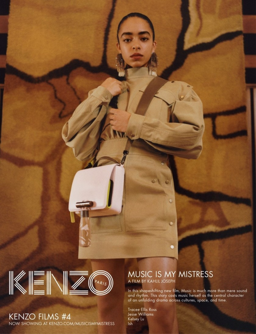 CAMPAIGN Tracee Ellis Ross, Jesse Williams & Kelsey Lu for Kenzo Spring 2017 by Durimel. Julia Sara Jamois, www.imageamplified.com, Image Amplified9