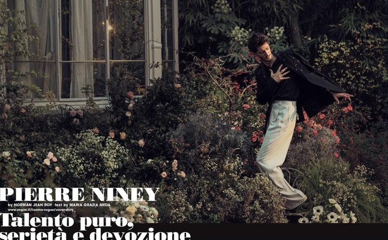L'UOMO VOGUE Pierre Niney by Norman Jean Roy. Robert Rabensteiner, Spring 2017, www.imageamplified.com, Image Amplified2