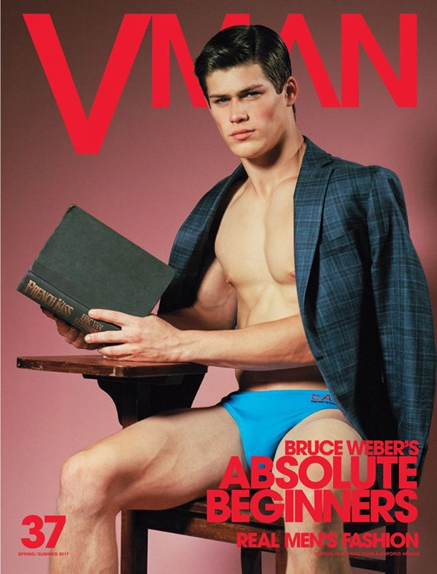 VMAN MAGAZINE Absolute Beginners by Bruce Weber. Paul Cavaco, Spring 2017, www.imageamplified.com, Image Amplified14