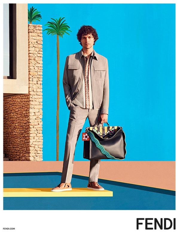 CAMPAIGN Miles McMillan for Fendi Spring 2017 by Mel Bles. Julian Ganio, www.imageamplified.com, Image Amplified2