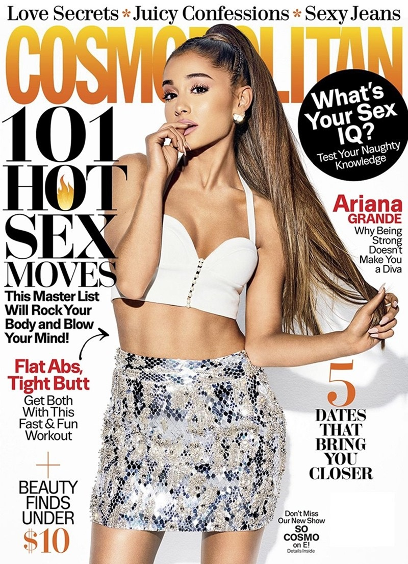 COSMOPOLITAN MAGAZINE Ariana Grande by Eric Ray Davidson. Spring 2017, www.imageamplified.com, Image Amplified1