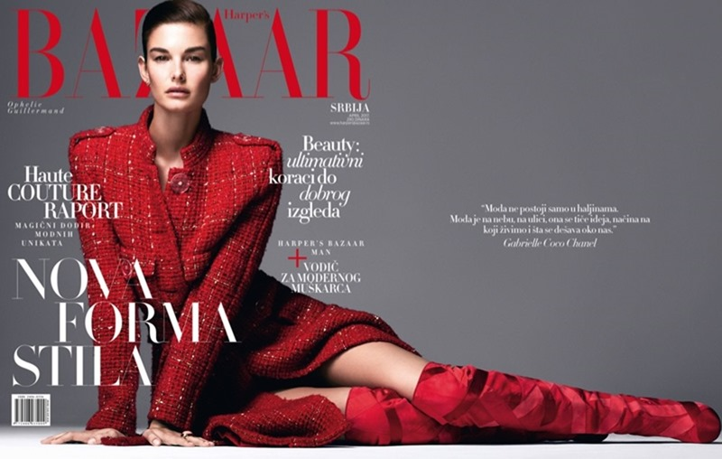 HARPER'S BAZAAR SERBIA Ophelie Guillermand by Andrew Yee. Marko Mrkaja, April 2017, www.imageamplified.com, Image Amplified1