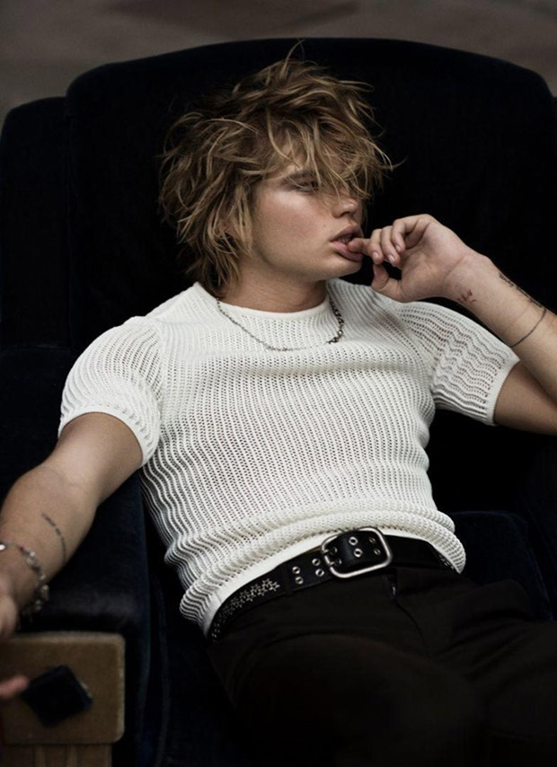 RUSSH MAGAZINE Jordan Barrett by Max Papendieck. Melissa Levy, Spring 2017, www.imageamplified.com, Image Amplified9