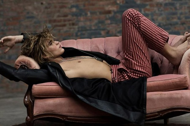 RUSSH MAGAZINE Jordan Barrett by Max Papendieck. Melissa Levy, Spring 2017, www.imageamplified.com, Image Amplified1